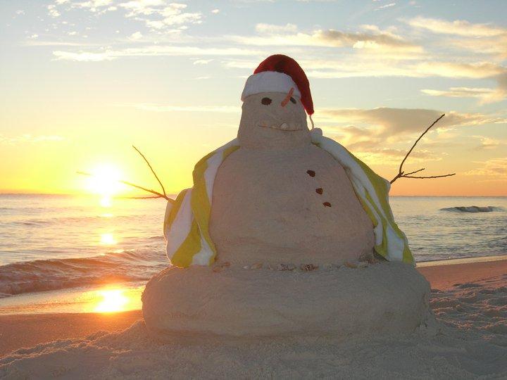 snowman-on-beach